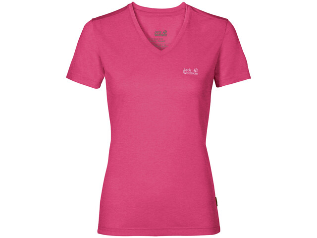 Jack Wolfskin Crosstrail T-Shirt Femme, pink peony